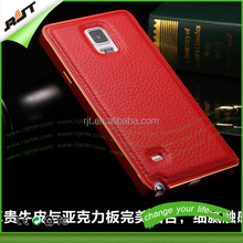 2015 Luxury Genuine Leather Phone Cases for Samsung note 4