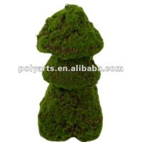 Artificial moss topiary