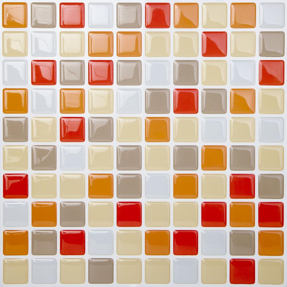 Pvc auto adesivo papel de parede da cozinha da telha de for Mosaico adesivo 3d