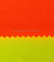 High Visibility Fabric reflective waistcost safety vest material Fluorescence tricot