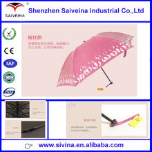 Made in China wholesale stock pearly color UV protection folding umbrella