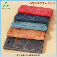 For Apple iPhone 6 Wallet Case With Card Slot, Leather PU Wallet For iPhone 6 Phone Cases