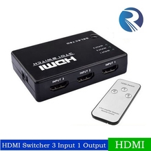 HDMI True Matrix 3x1 Port HDMI Switch Switcher HDMI Splitter Hub Box for PS3 Xbox 360 HDTV DVD with IR Wireless Remote
