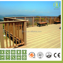 high quality plastic wood composite slat for garden project