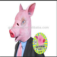 Latex full head mask halloween pig mask for party