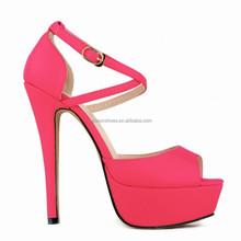 2015 ankle strap platform sandals high heel shoes for women