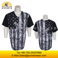 Personalizada de softbol/uniformes de béisbol/jerseys con botones