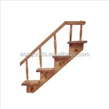 trapezoid sladder shape wooden shelf for wall decoration