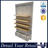 Customized folder display stand folding clothes shelf with L bracket