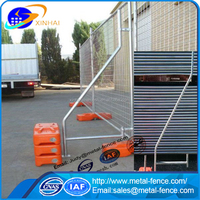 Wholesale factory/temporary Galvanized security mobile barrier fence