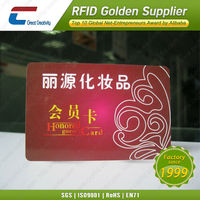 Professional plastic card printing smart card for cosmetics
