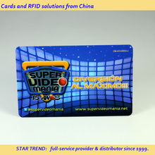 PVC magnetic stripe card with full colors printing for online video - member card