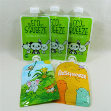 china manufacturer plastic packaging Reuseable liquid spout pouches