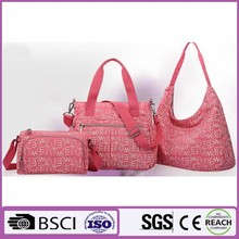 Can be customized Quality fashion ladies bags cotton print canvas handbags with PVC coating