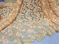Mulit Color African Tulle Lace Fabric for Charming Dress