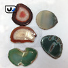 2015 NEW hot sale JEWELRY free form drilled polished natural gemstone wholesale agate slices
