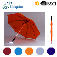 Fancy Straight Handle LED Light Umbrella Giveaways With Crystal