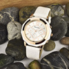 japan movement Ceramic case genuine leather band Quartz Fashion Women Luxury Brand Lady Ceramic Watches Women's Wristwatches