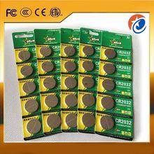 campione gratuito 3v batteria a bottone cr2032 batteria principale pile a bottone cr2032 batteria luci alimentate a led