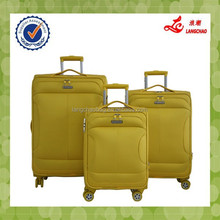 Yellow Match Color High-end New Designs Fabric Sky 3pcs One Set Travel Luggage