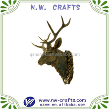 Polyresin bronze color deer animal head wall decoration hanging gift crafts