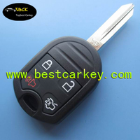 Low price 4 button car remote control key for ford car remotes ford car key 433mhz