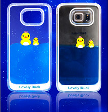 3D Dynamic PC Material Back Case Liquid Clear Cover For Samsung Galaxy S6 Edge