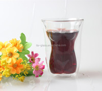 150ml china promotional tea coffee drinking sexy lady shape naked clear high borosilicate double wall glass wine cup
