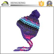 100% cotton Material child crocheted hat , crochet knit beanie