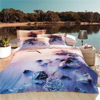 2015 Reactive Printed High quality home use bedding set 3d cotton