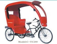 2015 new model TC200 26inch Chinese old style manpower pedicab for passenger