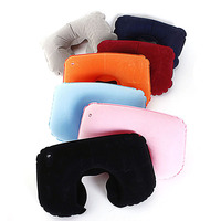 Best NEW Portable Folding Air Inflatable Travel Neck U Shape Pillow Support Head Rest Air Blow Up Cushion Outdoor