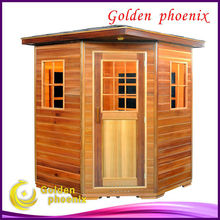 Canada Hemlock infrared sauna room G3CO outdoor sauna
