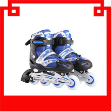 new stylish High quality hot sell adjustable inline skate shoes flash roller skates,roller inline skate shoes with red color