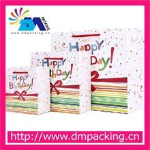 custom birthday paper gift bags packaging bags