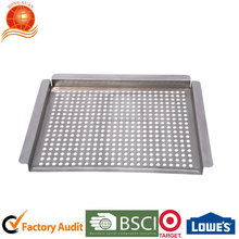 BBQ stainless steel pan vegetable basket roast pan