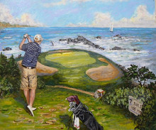 2015 new design high quality man playing golf painting on canvas outdoor sport oil painting for wall decoration