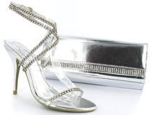 Diamond Shoes With Matching Clutch Bag With Jewelled Diamond