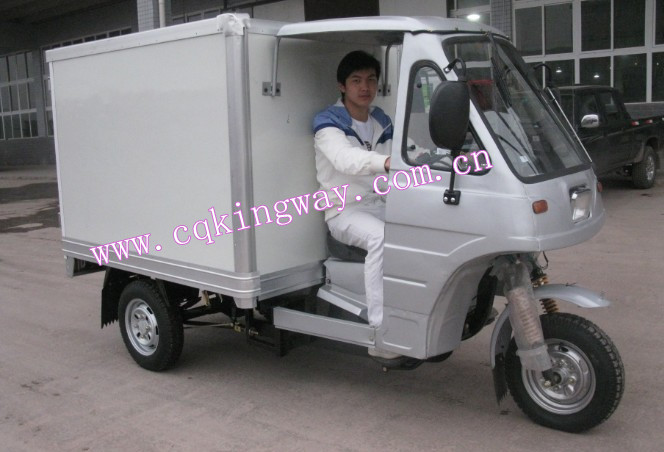 Chongqing Supplier Enclosed Adult Pedal Tricycle 250cc Water/Air Cooling Motor Adult Cargo Tricycle For Sale