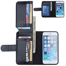 Multifunctional leather mobile phone case for iphone 6 pouch case with card holder 4.7inch 7 kinds colours