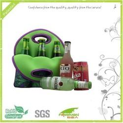 Cusomed pattern six-pack beer bottle bag