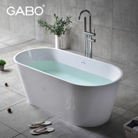 Portable Whirlpool Bathtub For Fat People With Floor Standing Faucet