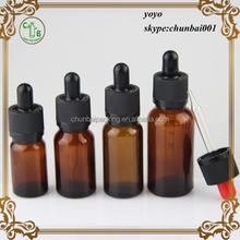 wholesale amber glass bottles 10ml 150ml 20ml 30ml eliquid dropper bottles with black cap