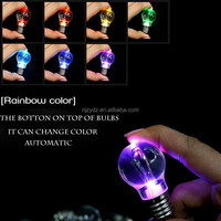 Colorful color key chain colorful mini bulb fell not broken creative gift LED bulb