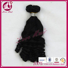 Natural and soft brazilian hair remy fummi curl permanent natural color hair long/ short length hair
