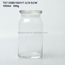 clear good quality perfect shaped fashionable Glass Storage Jar