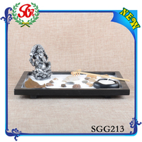 SGG213 Ganesh Miniature Statue And Garden Lantern Candle Holder For Sale