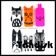 Animal silicone case covers, mobile phone silicone case for IPhone5