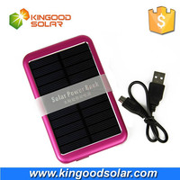 Real capacity Single USB 4-5 times charging time 8000mah portable solar mobile phone charger