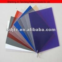 PVC transparent color plastic sheets